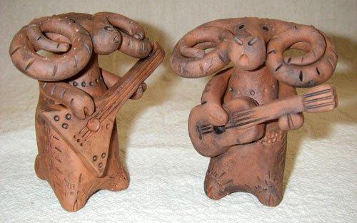 Глиняные игрушки из Скопина