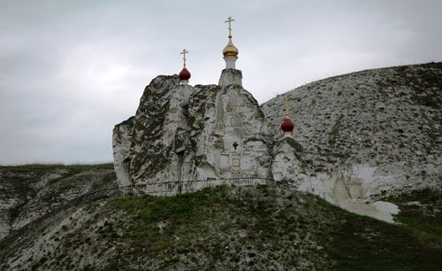 Вид на Костомаровскую Свято-Спасскую обитель