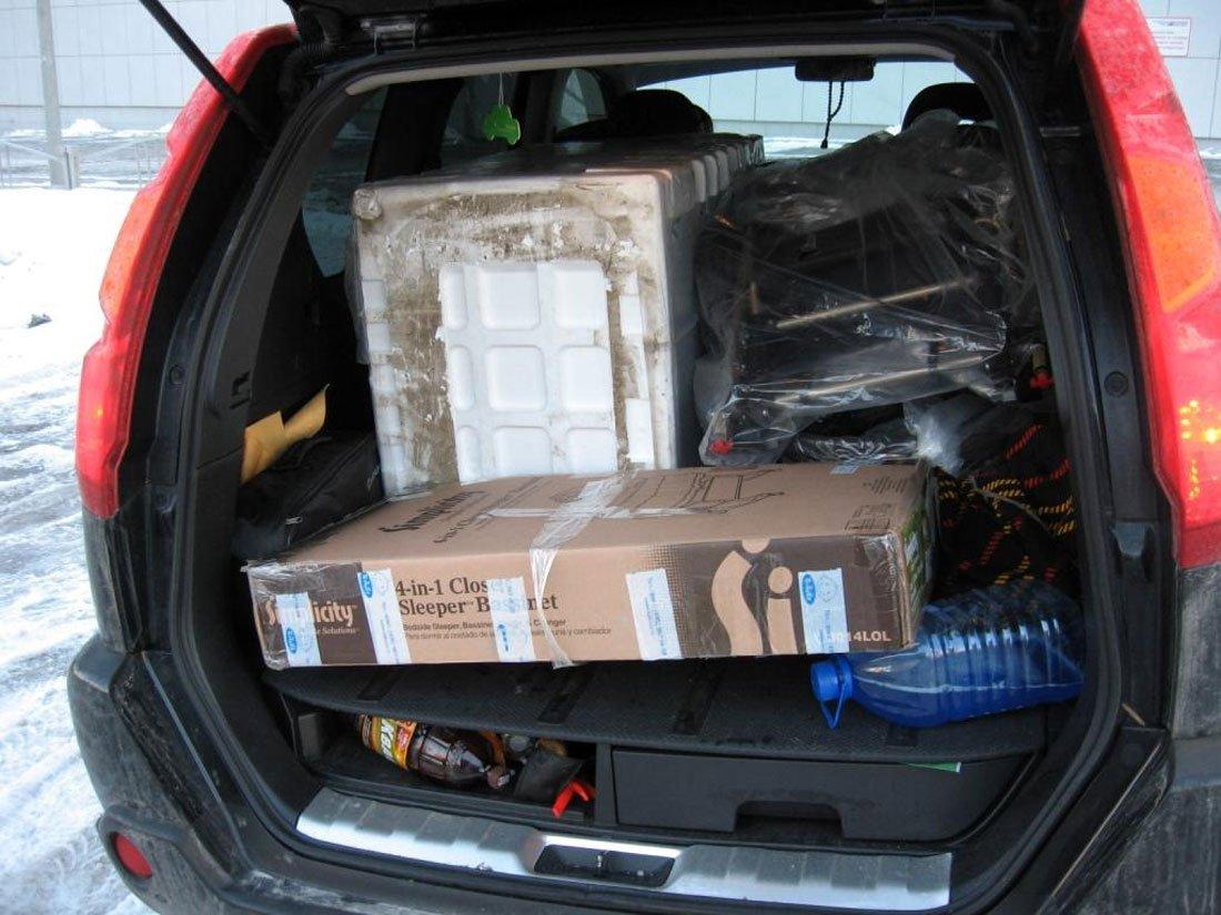 Незакрепленный груз в машине