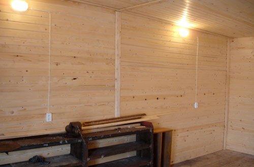 Обивка гаража вагонкой