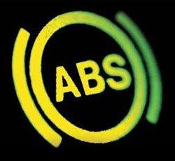 Срабатывание системы АБС