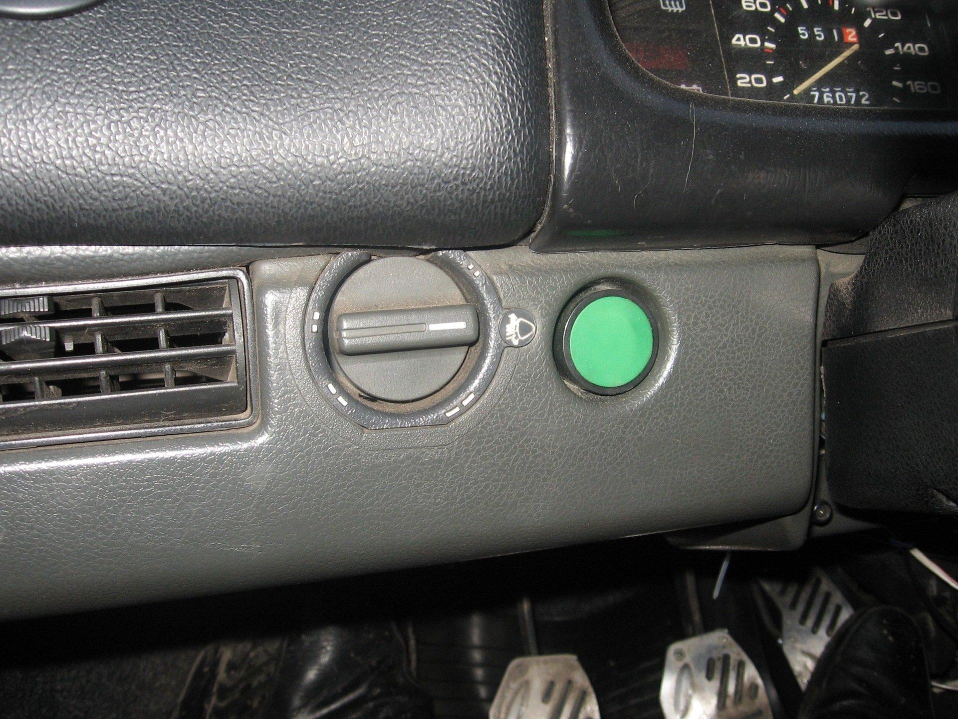 Кнопка вместо замка зажигания, ВАЗ-2109