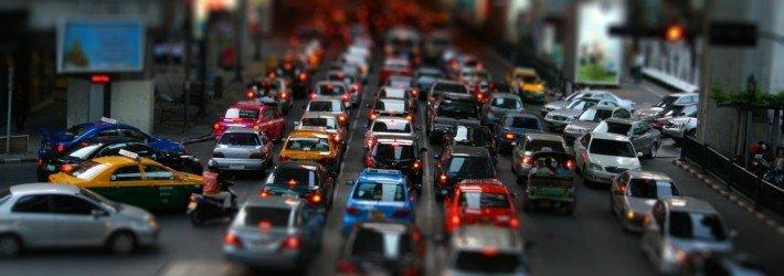 пробки на дороге