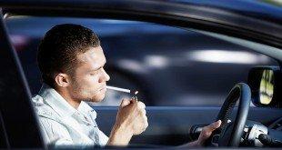 Курение за рулем автомобиля