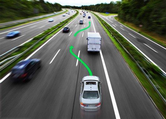 Автобан и выполнение обгона
