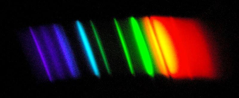 Спектр натриевой лампы уличного освещения