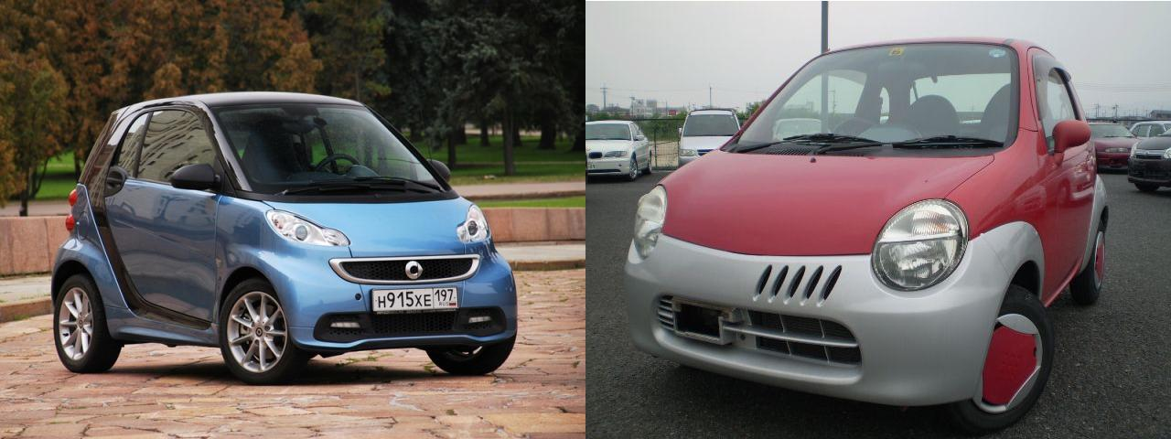 Smart ForTwo и Suzuki Twin