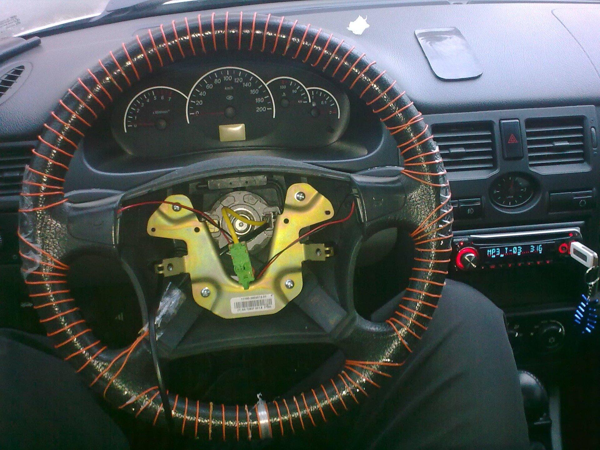 Самодельный руль с подогревом, обмотка 12V