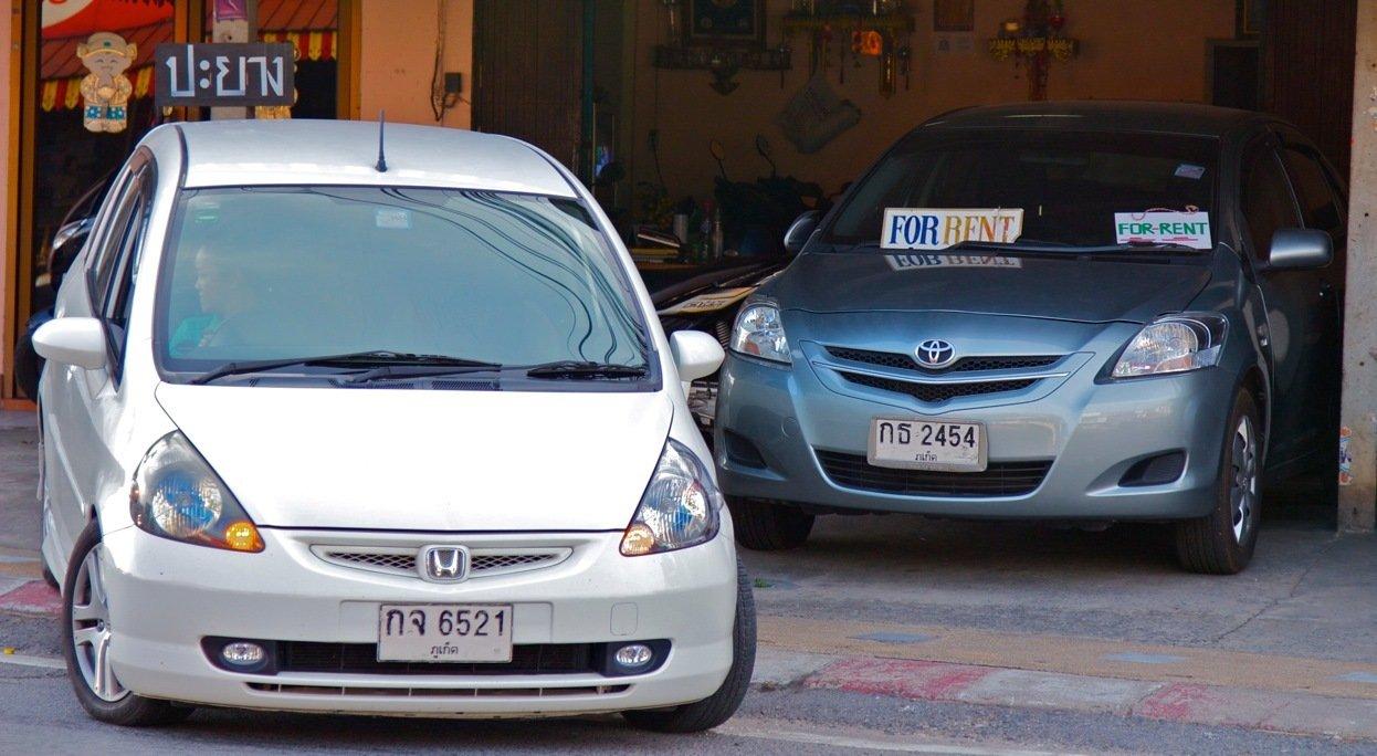 Аренда авто в Таиланде у частника