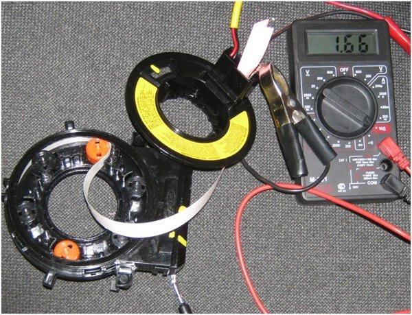 Испытание провода шлейфа током 1,66 Ампер