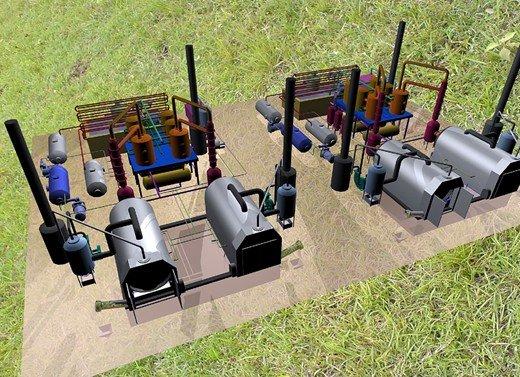 Завод по переработке автомобильных покрышек, 3D модель