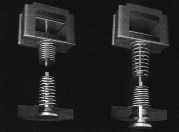 Конструкция электропривода Electromagnetic Valve Actuator