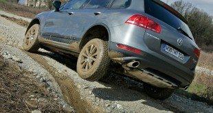 Боковое опрокидывание, внедорожник VW Tiguan
