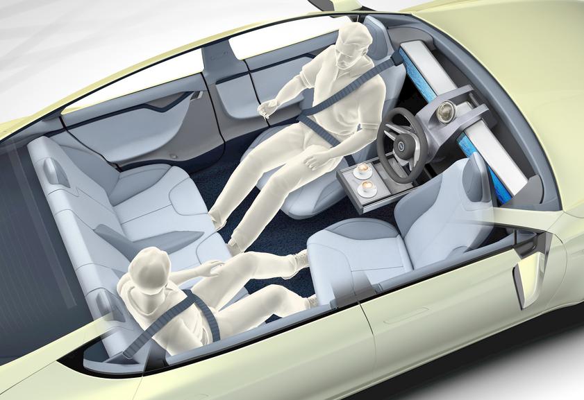 В салоне беспилотного автомобиля