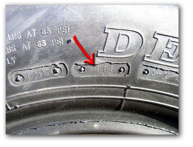 Дата выпуска автомобильных шин