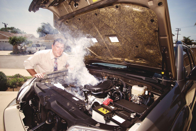 Двигатель закипел. Что делать?