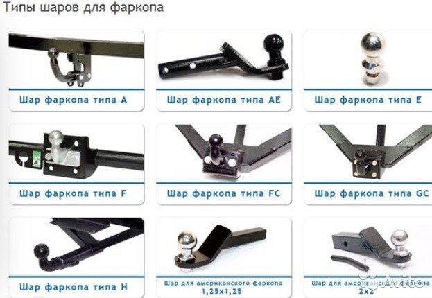 Разновидности фаркопов