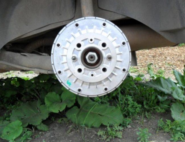 Колесо ВАЗ 2109 снято