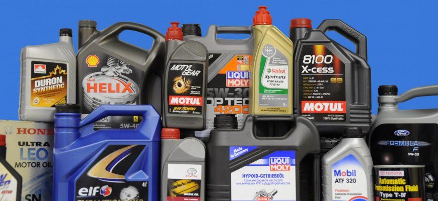 Моторные масла топовых марок