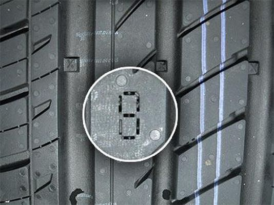 Индикатор цифрового износа на покрышках Matador