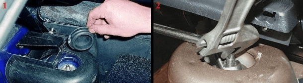 Замена задних амортизаторов ВАЗ 2109