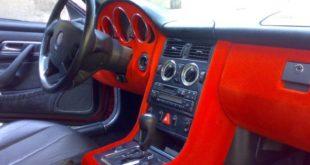 Флокирование салона автомобиля в красный цвет