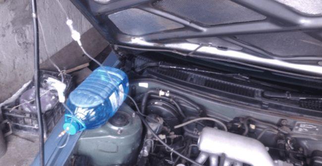 Очистка двигателя водой