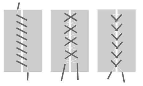 схемы шнуровки