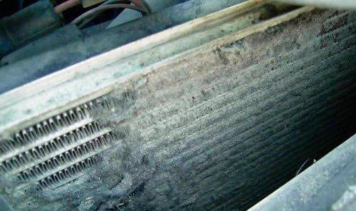грязный радиатор