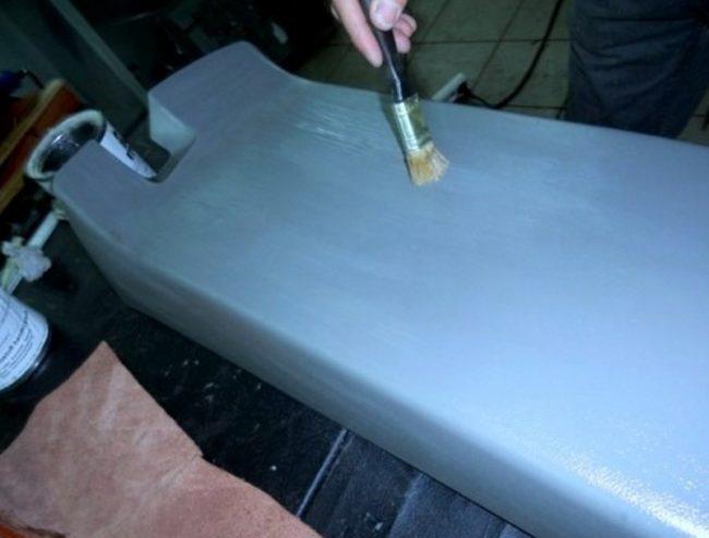Обезжиривание поверхности торпедо