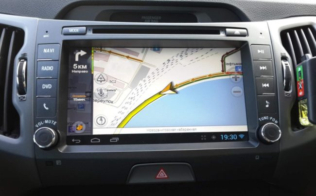 Использование планшета в качестве навигатора