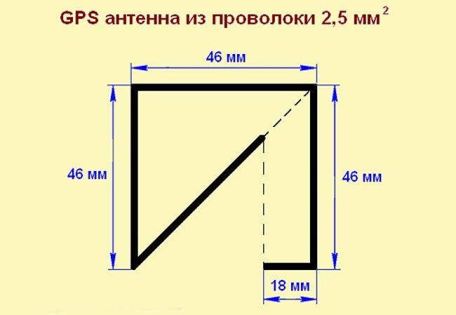 Схема GPS антенны