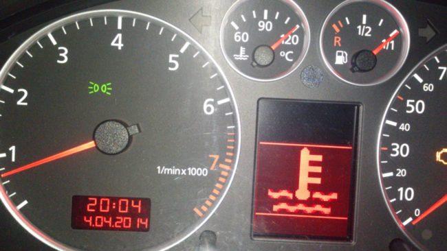 Индикатор температуры охлаждающей жидкости