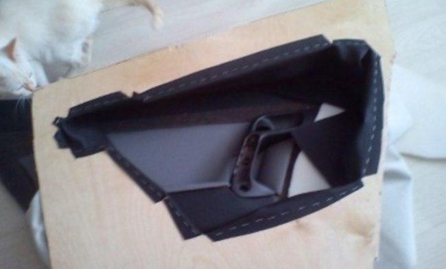 Кожаный чехол для дверной панели