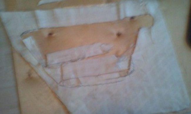 Скотч снят с дверной панели