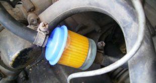 Топливный фильтр в работе