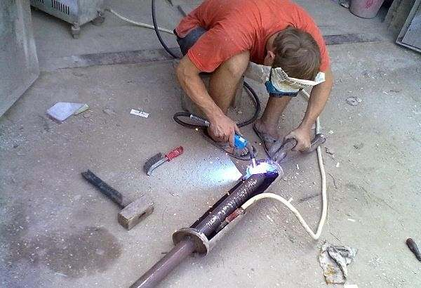Ввариваем трубу
