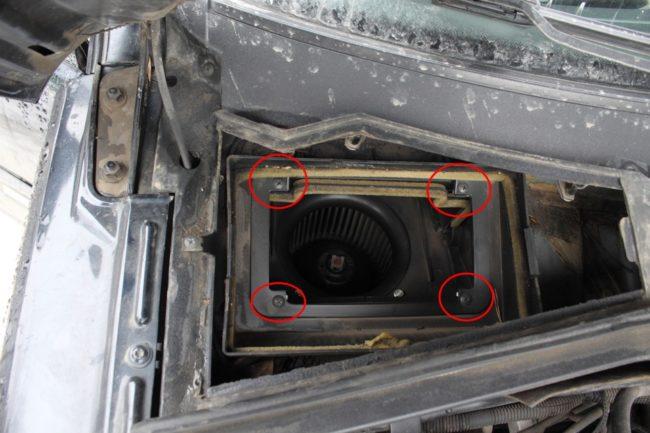 Демонтаж вентилятора