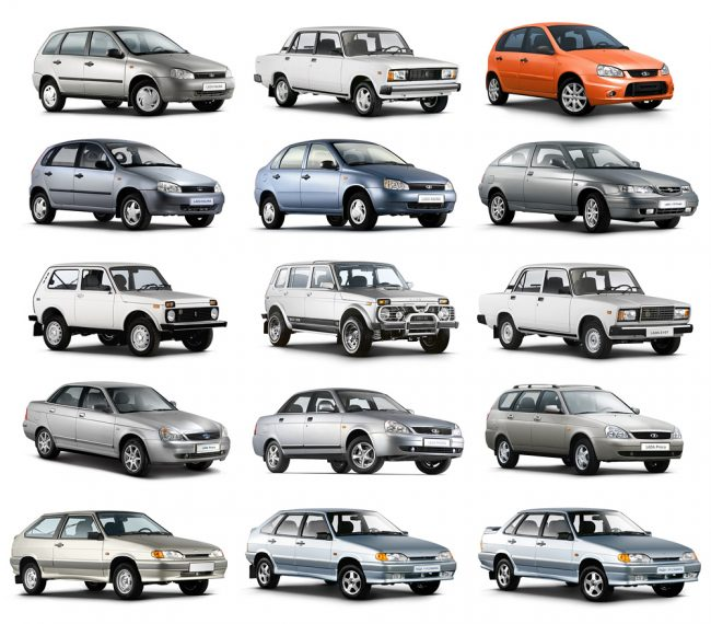 Модельный ряд автомобилей Lada