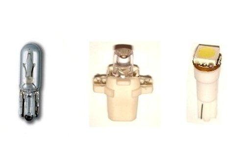 Три вида ламп накаливания для приборных панелей автомобиля