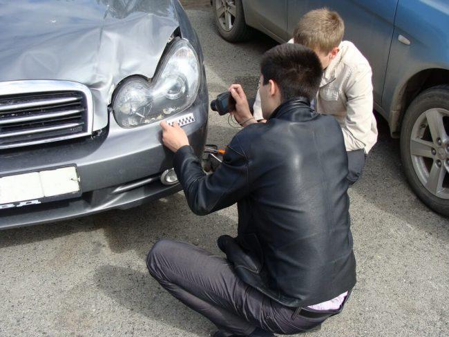осмотр битой машины