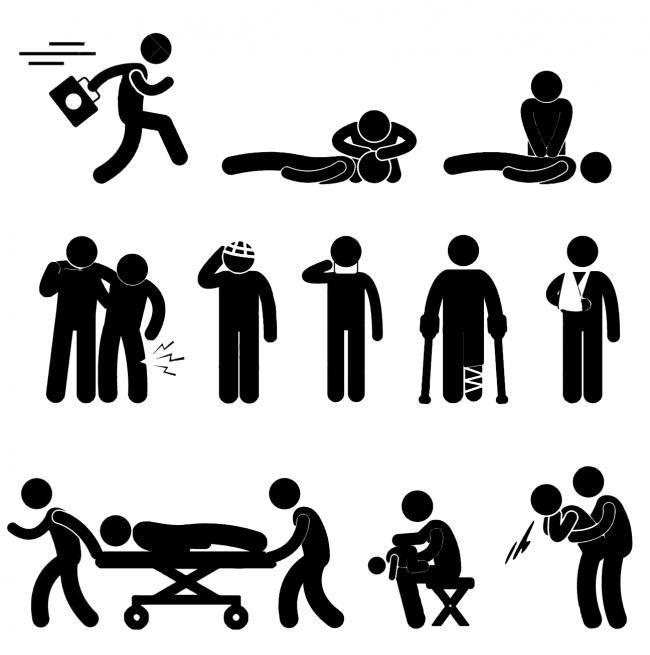 Пиктограммы оказания первой помощи