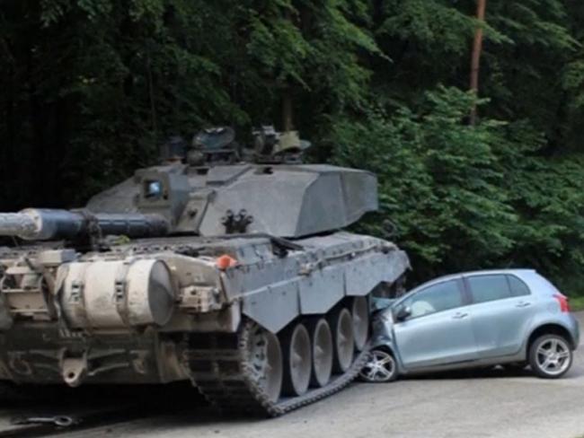 ДТП с танком