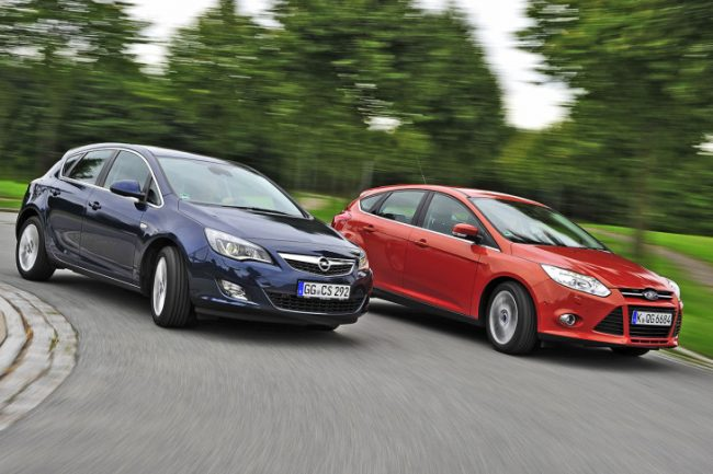 Opel Astra и Ford Focus