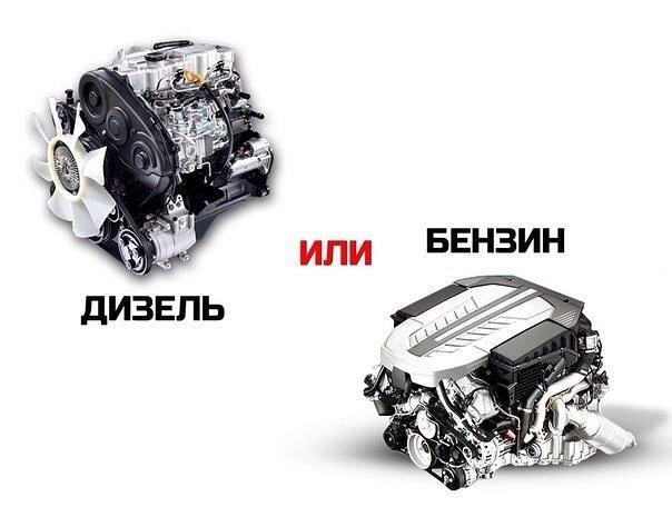 Сравнение бензинового и дизельного двигателя