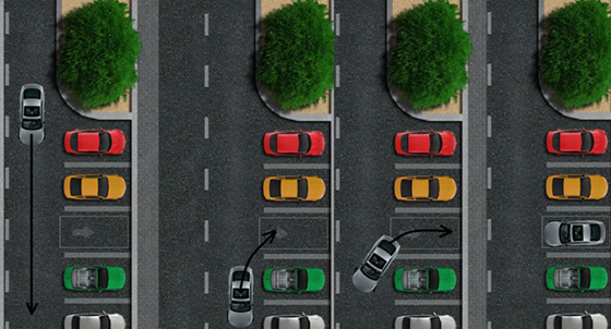 Схема парковки автомобиля задним ходом