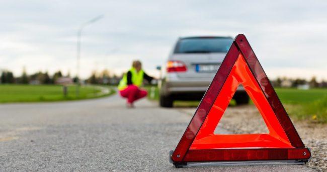 Выставление знака аварийной остановки