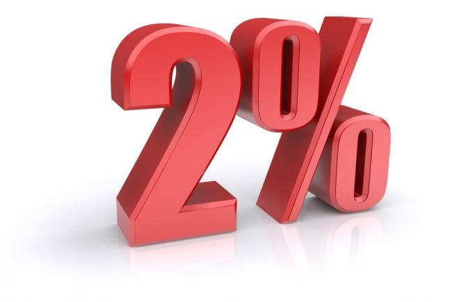 скидка 2 процента
