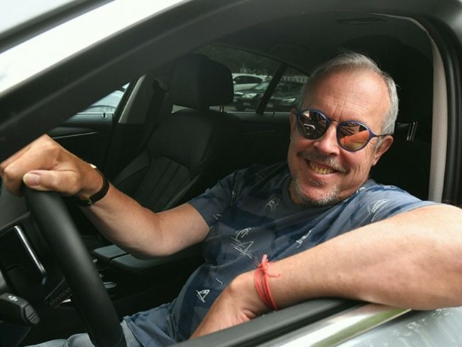 Андрей Макаревич в своей машине