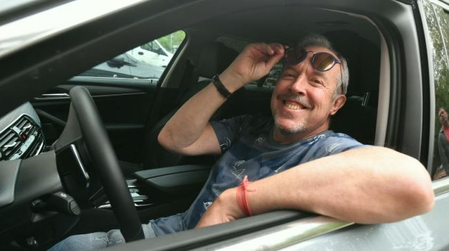 Андрей Макаревич в собственной машине
